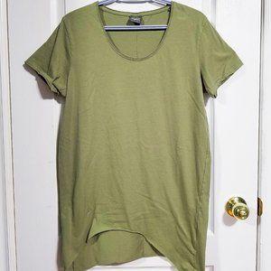 Jack & Jones Scoop Neck T-Shirt w/ Side Curved Hem